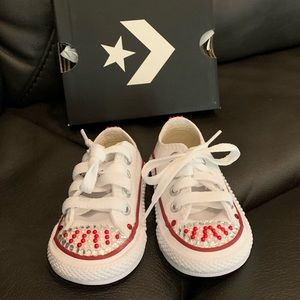 sparkle infant converse sneakers